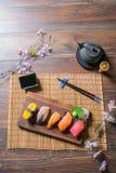 Japanese food. Sashimi Sushi set Royalty Free Stock Photography