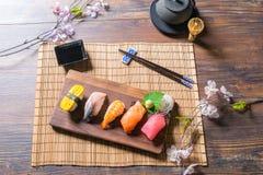 Japanese food Sashimi. Sushi set Stock Images