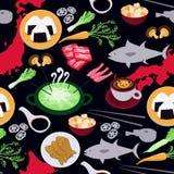 Japanese food seamless pattern Stock Image