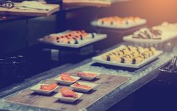 Japanese food with selective focus royalty free stock images