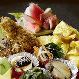 Japanese food set. Colorful japanese food set. beautifully decorate cuisine stock images