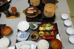 Japanese food set Royalty Free Stock Photos