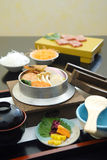 Japanese Food, Shabu-shabu and Sushi Royalty Free Stock Images