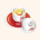 Japanese food steamed egg elements vector,eps. Vector illustration file Stock Images