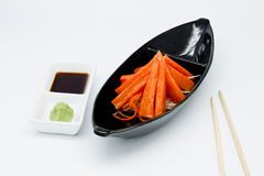 Japanese food style , crab stick and wasabi Stock Photo