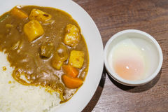 ,Japanese food style curry with rice Royalty Free Stock Photography