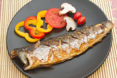 Japanese food style , Saba fish grilled Stock Photography