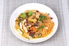 Japanese food,Sukiyaki in semi-dry style as fried mixed vegetabl Royalty Free Stock Photo