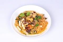 Japanese food,Sukiyaki in semi-dry style as fried mixed vegetabl Royalty Free Stock Photos