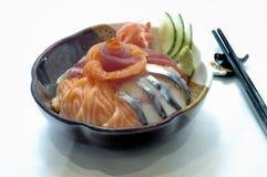 Japanese Food, Sushi. Japanese Food,  Salmon, Tuna Chirashi Bowl Stock Photos