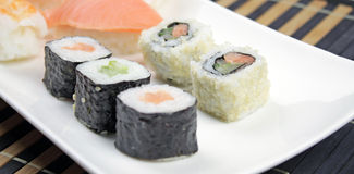 Japanese food - Sushi . Royalty Free Stock Photo