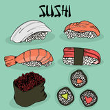 Japanese food sushi fresh fish Royalty Free Stock Image