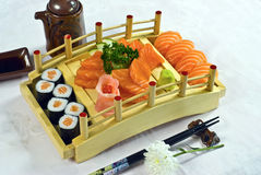 Japanese Food, Sushi Maki Platter Royalty Free Stock Photography