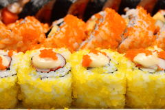 Japanese food Sushi Roll. Appetizer small rice Stock Photography