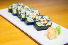 Japanese food Sushi Roll Maki of Salmon egg.  Stock Photography