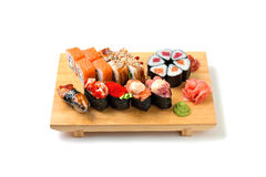 Japanese food. Sushi and rolls Royalty Free Stock Photos