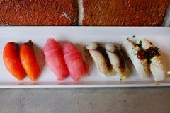 Japanese food - Sushi of salmon. & tuna sushi Stock Photography