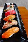 Japanese food - Sushi of salmon. & tuna sushi Royalty Free Stock Images