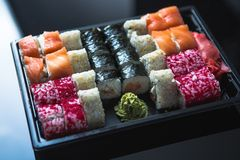 Japanese food - Sushi and Sashimi Stock Photo