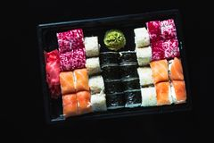 Japanese food - Sushi and Sashimi Royalty Free Stock Image