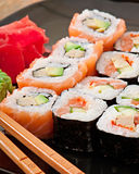 Japanese food - Sushi and Sashimi Royalty Free Stock Photography