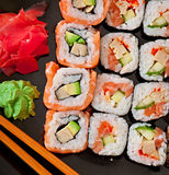 Japanese food - Sushi and Sashimi Royalty Free Stock Images