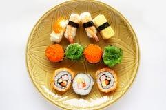 Japanese food, sushi set on plate Stock Photos