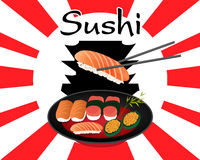 Japanese food sushi set Royalty Free Stock Image