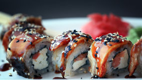 Japanese food is sushi tasty Royalty Free Stock Photos