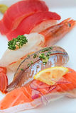 Japanese food, sushi, grilled eel on rice stock images