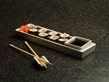 Japanese food on the table Royalty Free Stock Photos
