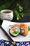 Japanese food with tea cup Royalty Free Stock Image