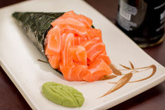 Japanese Food temaki. Japanese food, Japanese restaurant, oriental food Royalty Free Stock Photo