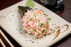 Japanese Food temaki. Japanese food, Japanese restaurant, oriental food Stock Photo
