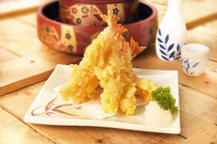 Japanese food tempura. A delicious japanese tempura shot Stock Image
