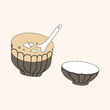 Japanese food theme elements vector,eps Royalty Free Stock Photo