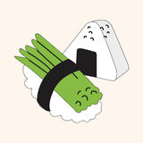 Japanese food theme sushi elements vector,eps Stock Photography
