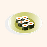 Japanese food theme sushi elements vector,eps Royalty Free Stock Photos