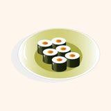 Japanese food theme sushi elements vector,eps Royalty Free Stock Photos