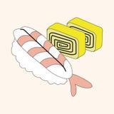 Japanese food theme sushi elements vector,eps Stock Photos