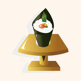 Japanese food theme sushi elements vector,eps Stock Images