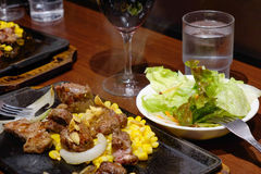 Japanese food in Tokyo, Japan Royalty Free Stock Photography
