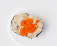 Japanese food, tuna salad and flying fish roe sushi Royalty Free Stock Image