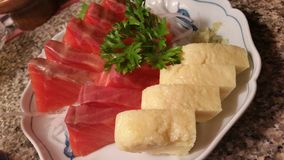 Japanese food. Yummy salmon eggroll Stock Photography