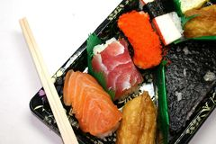 Japanese Foods. Plate of Japanese Foods stock images