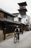 Japanese and foreigner walking and visit street and clay walled Royalty Free Stock Photo