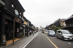 Japanese and foreigner walking and visit street and clay walled Stock Image