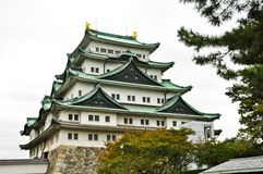 The Japanese Fort of Nagoya Castle Royalty Free Stock Photo
