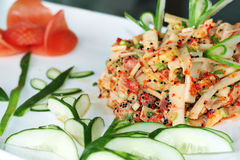 Japanese fresh fish salad Stock Images