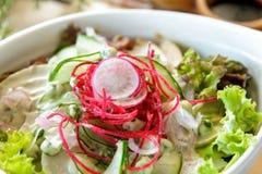 Japanese fresh garden salad Stock Images